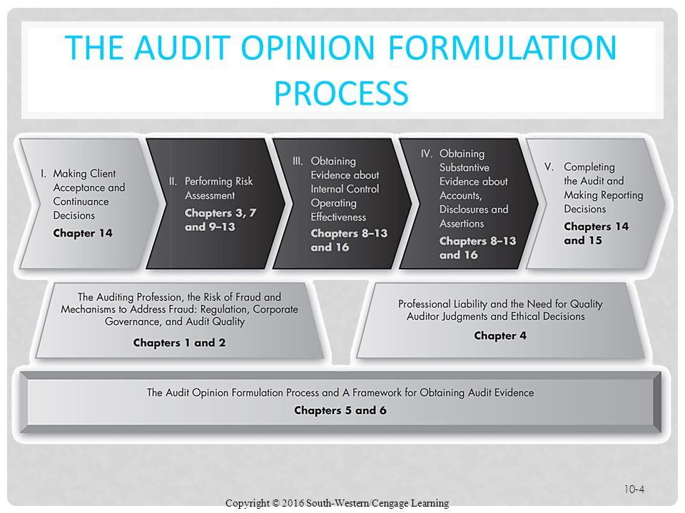 THE AUDIT OPINION FORMULATION PROCESS