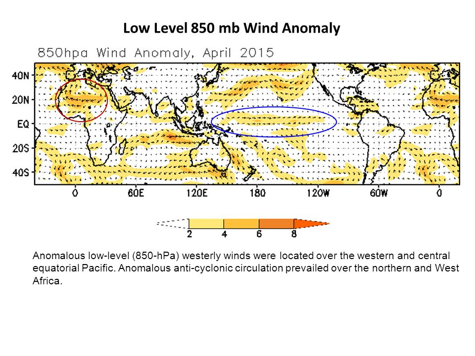 Low Level 850 mb Wind Anomaly