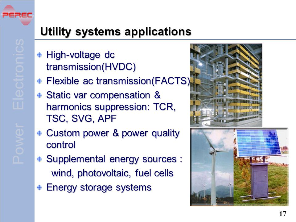 Utility systems applications