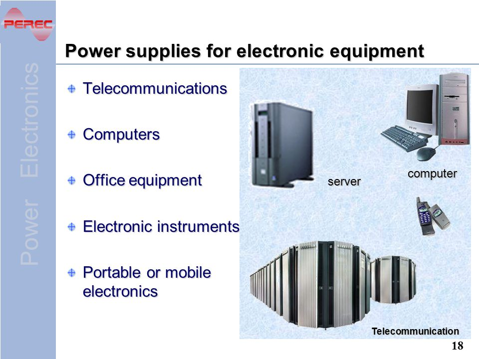 Power supplies for electronic equipment