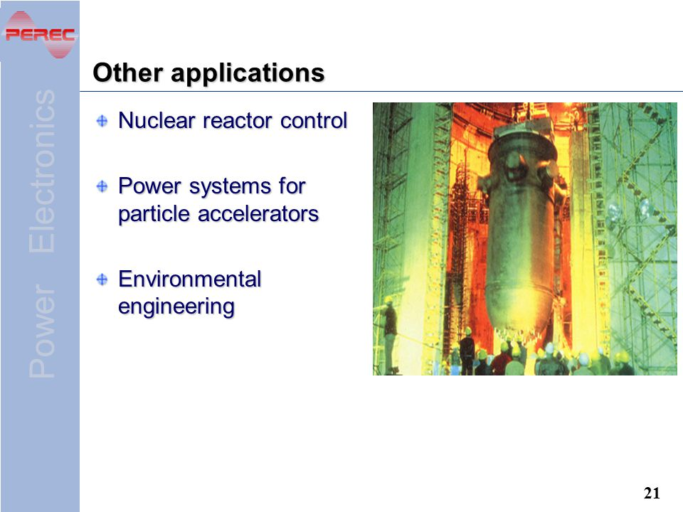 Other applications Nuclear reactor control
