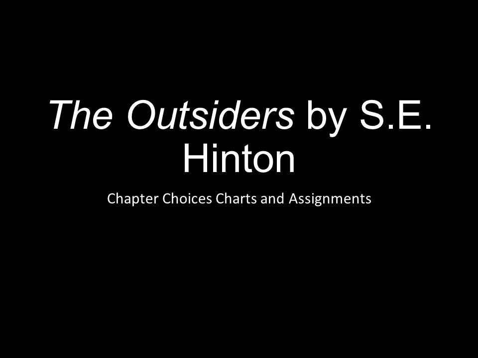 Essay on the outsiders by s. e. hinton