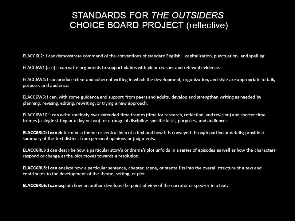 the outsiders essay conclusion Free outsiders papers, essays, and research papers these results are sorted by most relevant first (ranked search) you may also sort these by color rating or essay length.