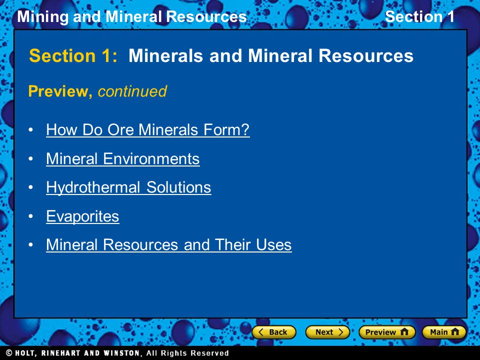 Section 1: Minerals and Mineral Resources - ppt video online download