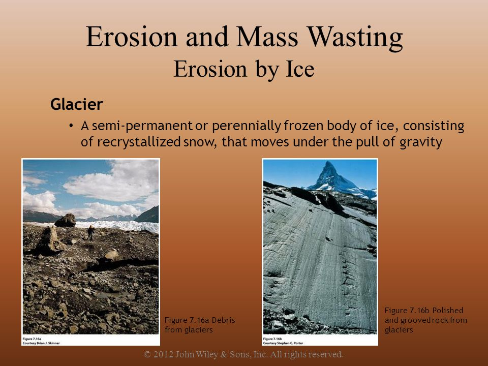 Erosion and Mass Wasting Erosion by Ice