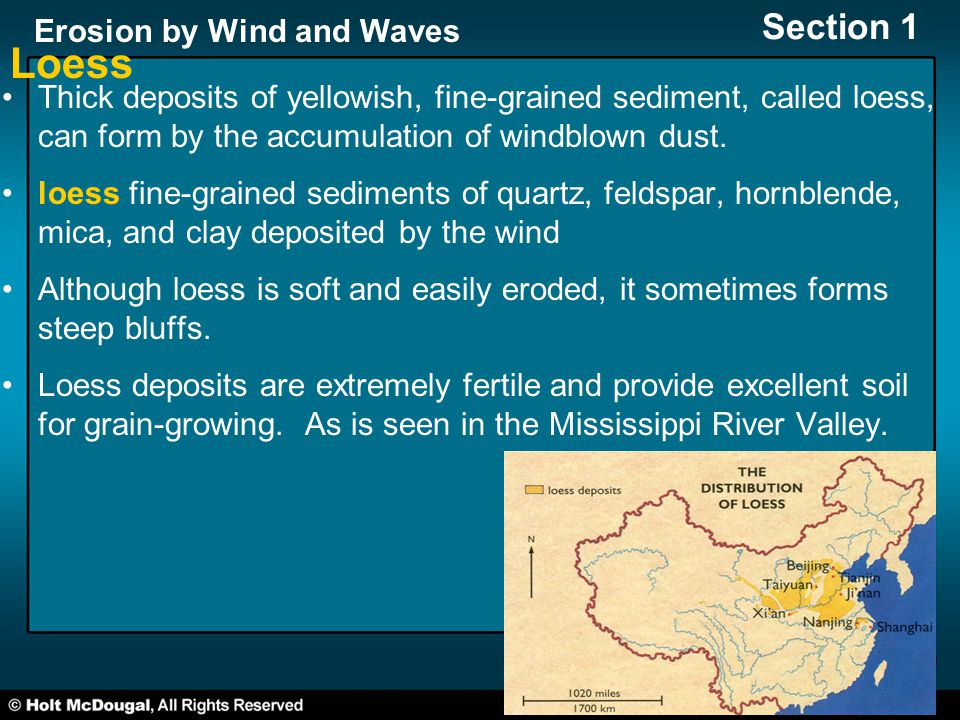 Section 1: Wind Erosion Preview Key Ideas How Wind Moves Sand and ...