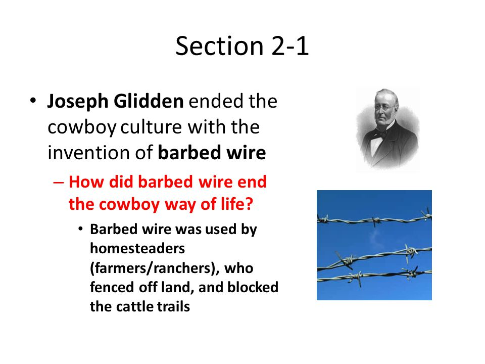Unit 2 Westward Expansion and the Gilded Age ppt video online – Joseph Gidden Barbed Wire Diagram
