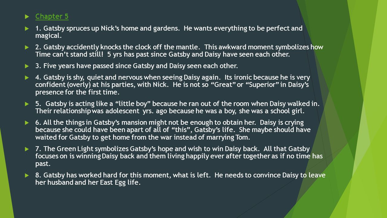 gatsby and daisys relationship chapter 7