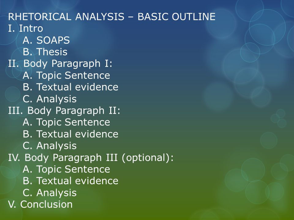 What is the best way to write your first rhetorical analysis essay