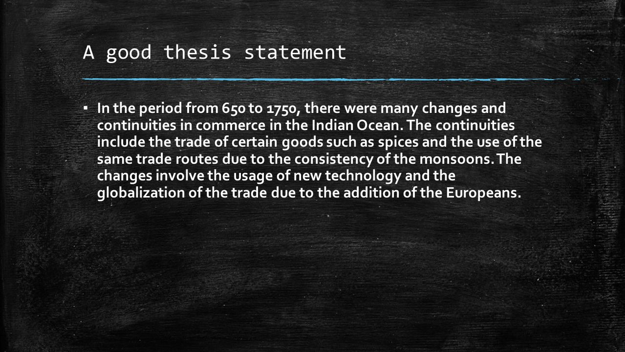 how to write a good history thesis statement