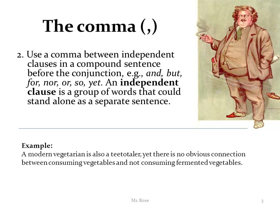 punctuation sentence and independent clauses example All sentences are made up of one or more clauses some clauses are dependent, while others are independent what is a dependent clause a clause is a group of words.