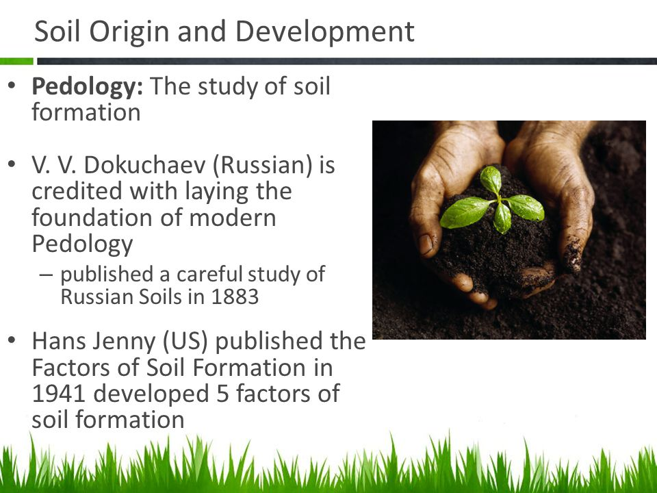 Agriscience and technology i introduction to soil science for Origin of soil