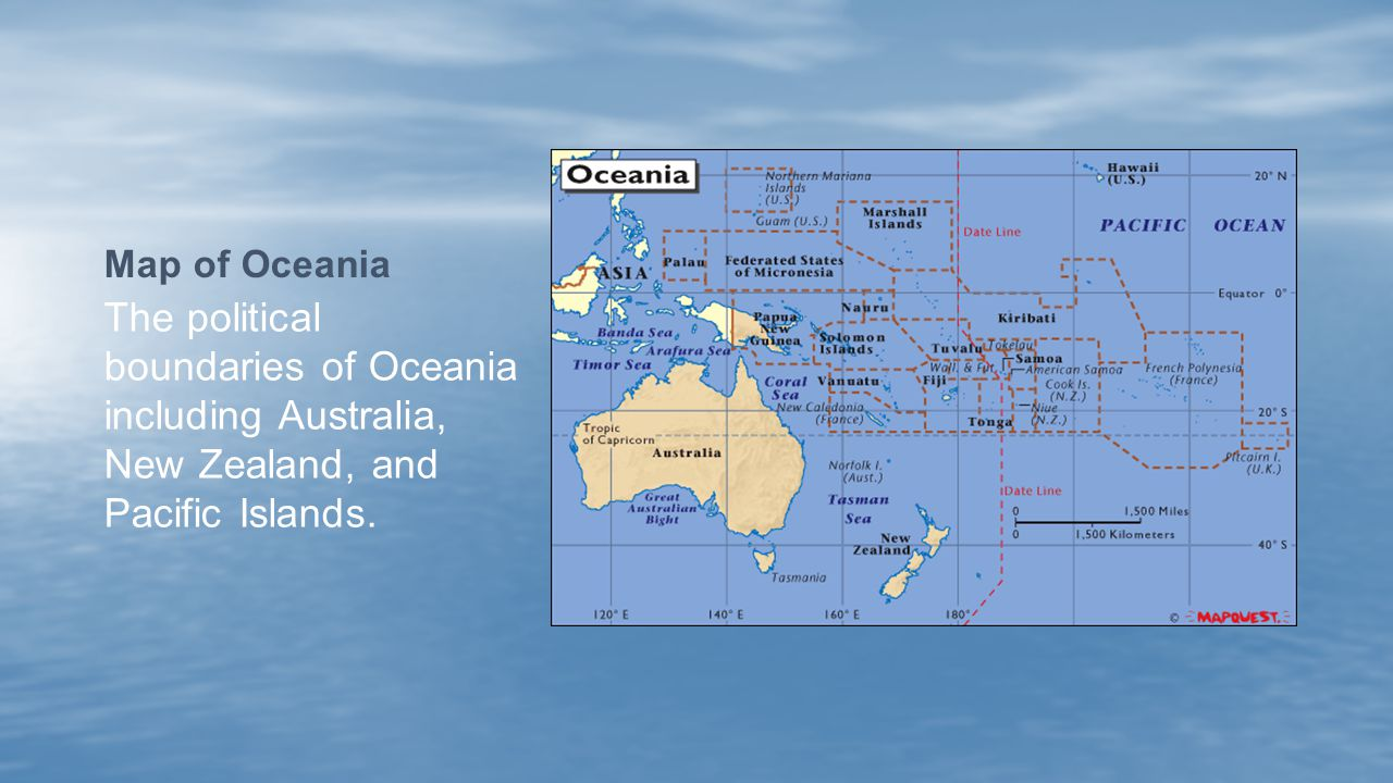 5 Map of Oceania The political boundaries