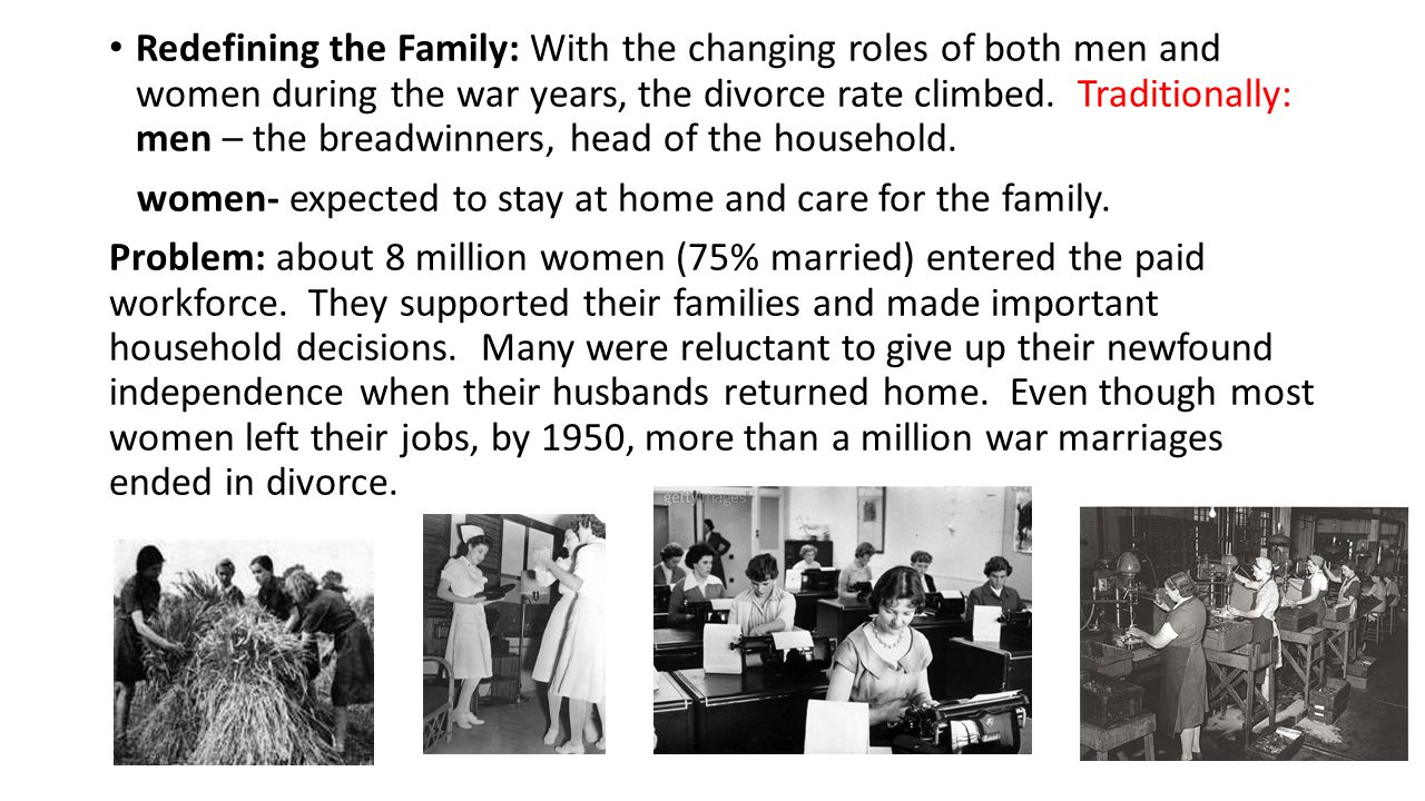 Traditional Roles of Men & Women in Families