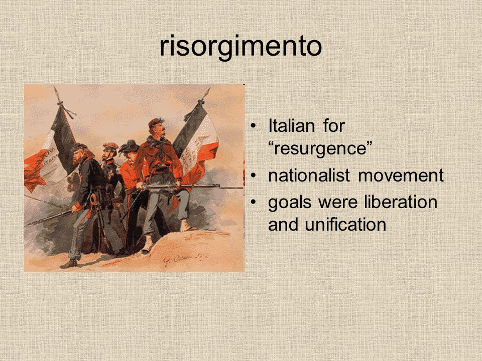history of the risorgimento movement in italy The roles of the jews in italian society  italian nation was the risorgimento itself this national movement politically united the peninsula, but failed to create.