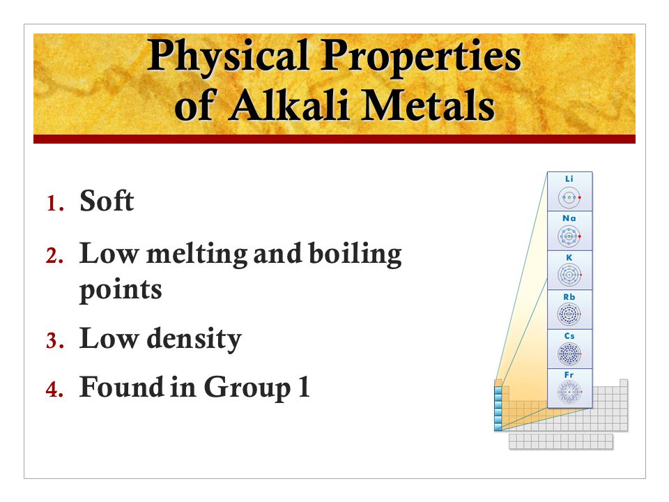 Periodic table periodic table alkali metals characteristics elements and their properties ppt video online download periodic table periodic table alkali urtaz Images