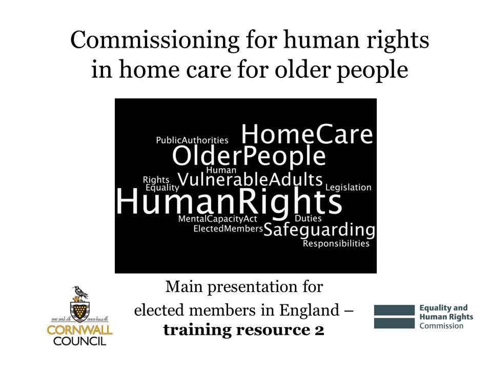 Commissioning for human rights in home care for older people