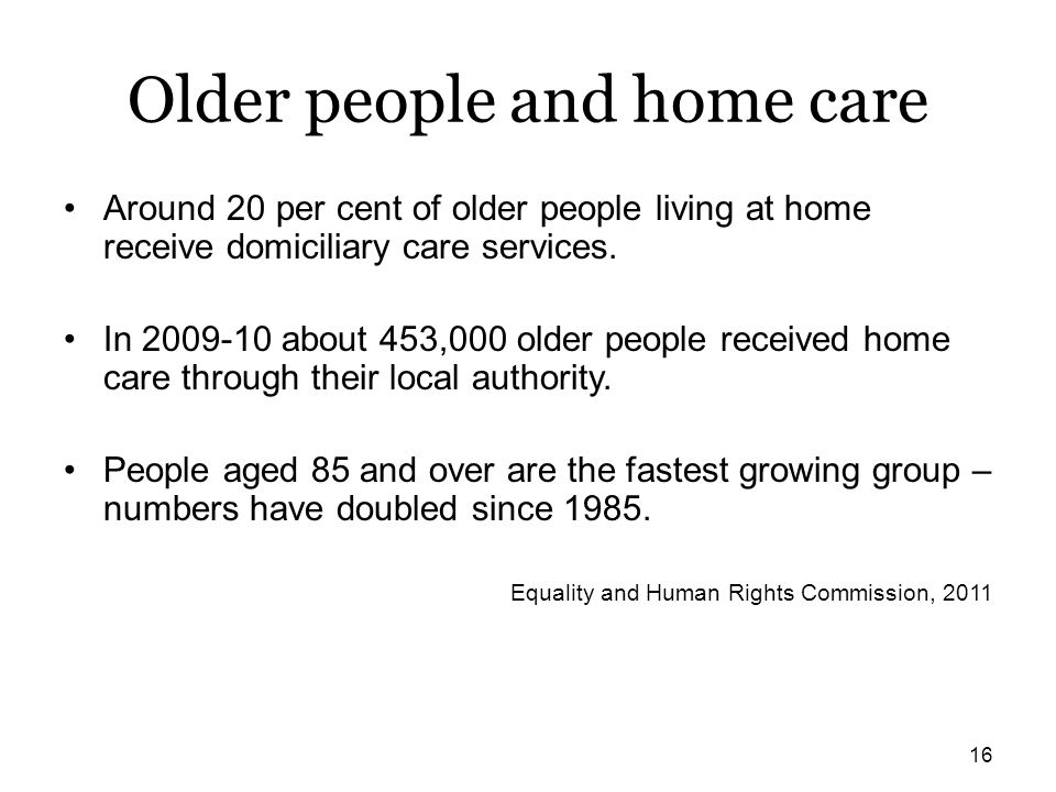 Older people and home care