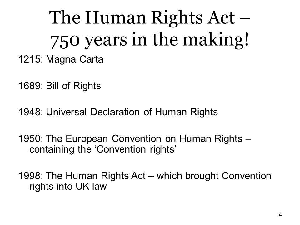The Human Rights Act – 750 years in the making!
