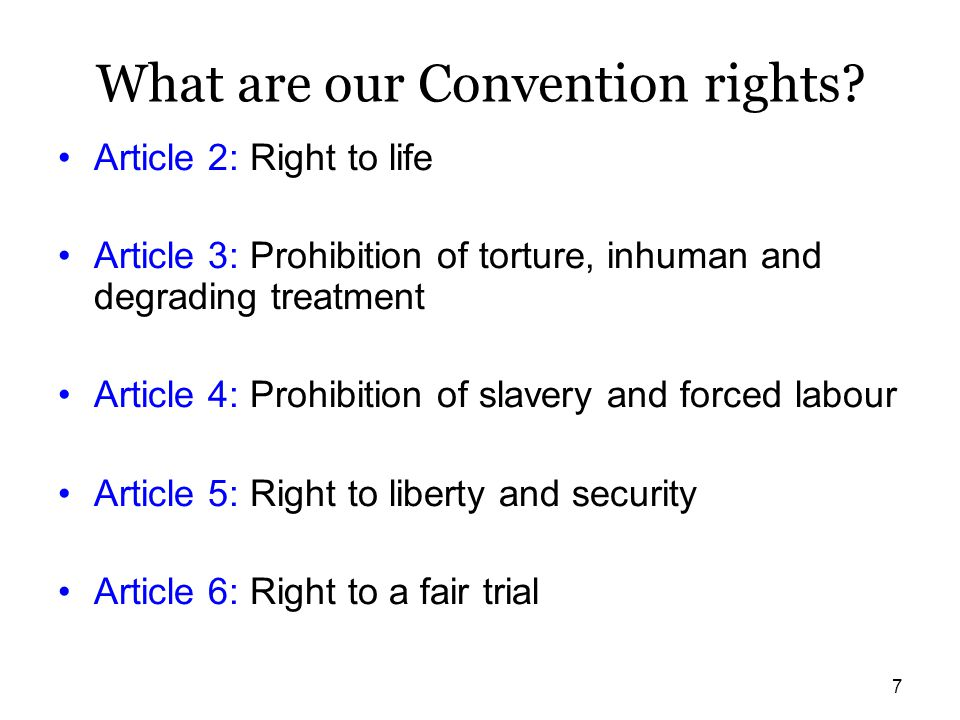 What are our Convention rights
