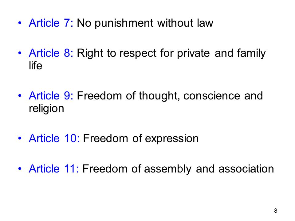 Article 7: No punishment without law