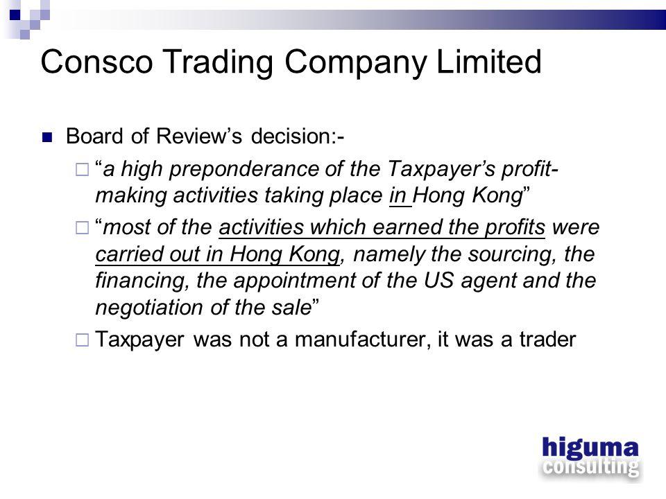 Consco Trading Company Limited