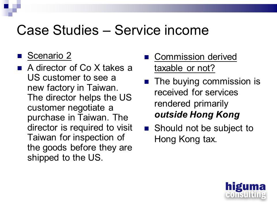 Case Studies – Service income