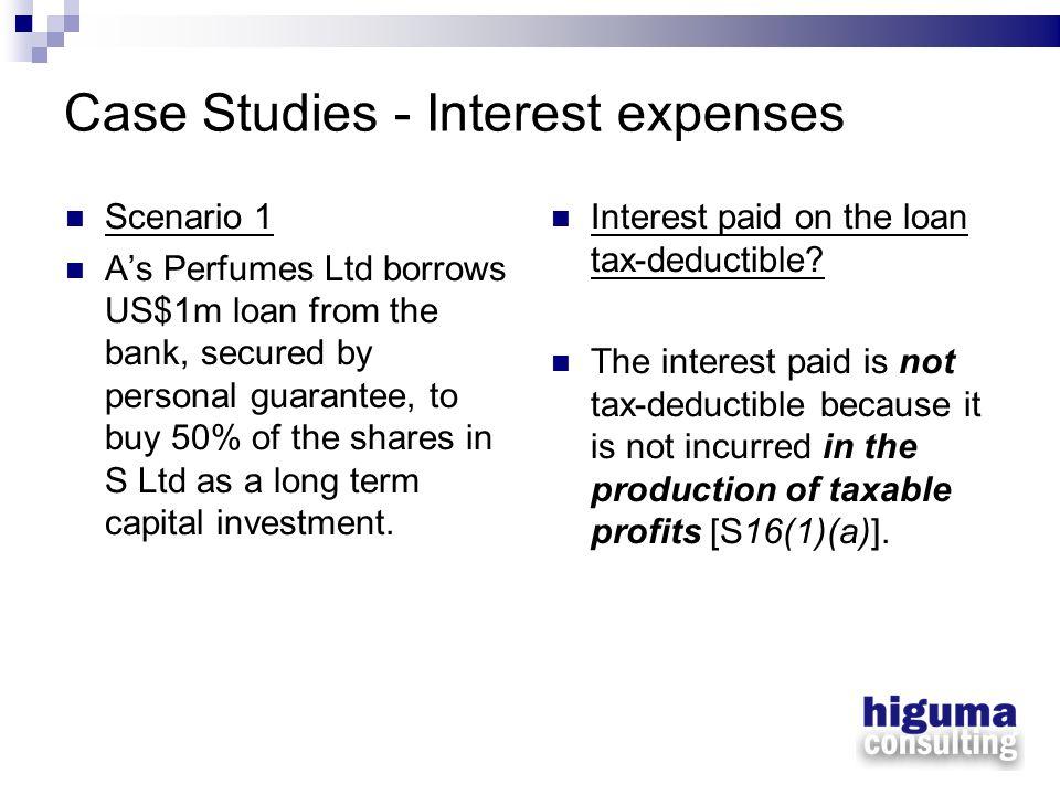 Case Studies - Interest expenses