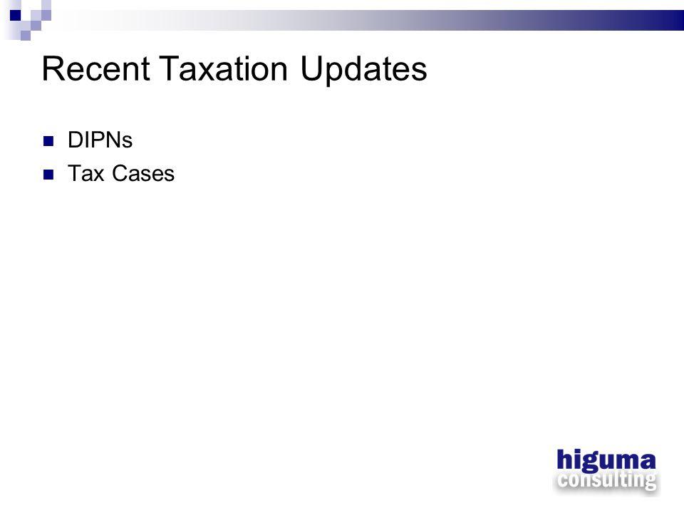 Recent Taxation Updates