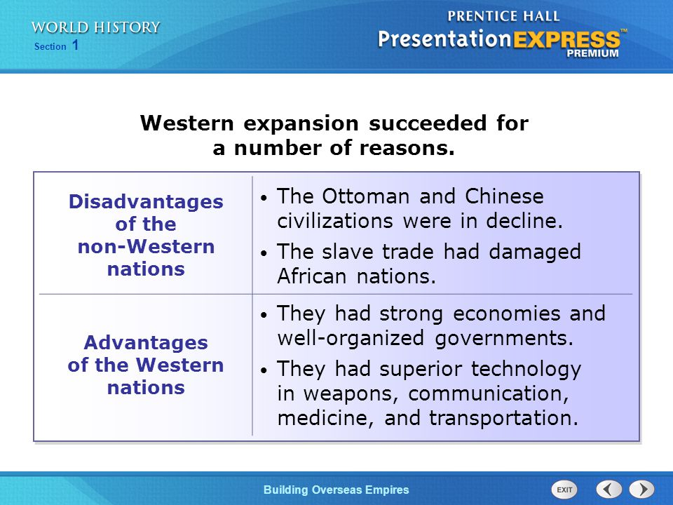 Western expansion succeeded for a number of reasons.