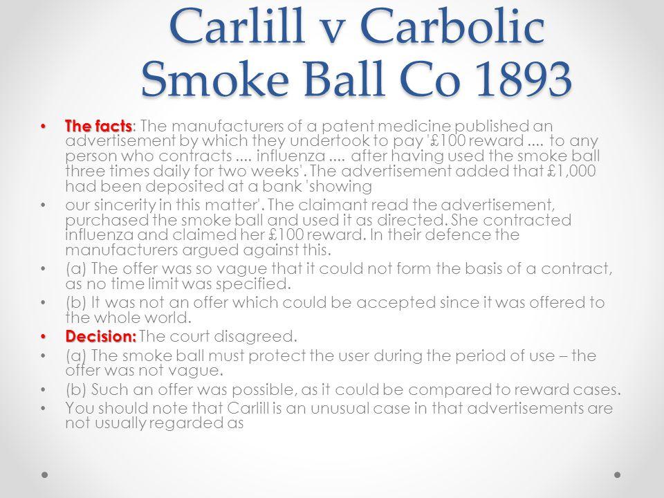 carlill v carbolic smoke ball suman
