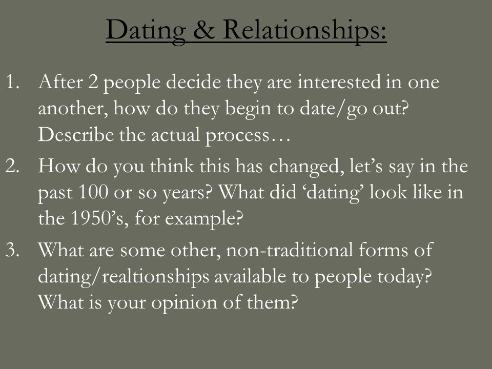 is traditional dating a thing of the past Were betrothed to each other by commitment or by a simple ceremony by a person who took on the role of minister, correct i think they were married, just not under a license from the local government like today's traditional marriage.