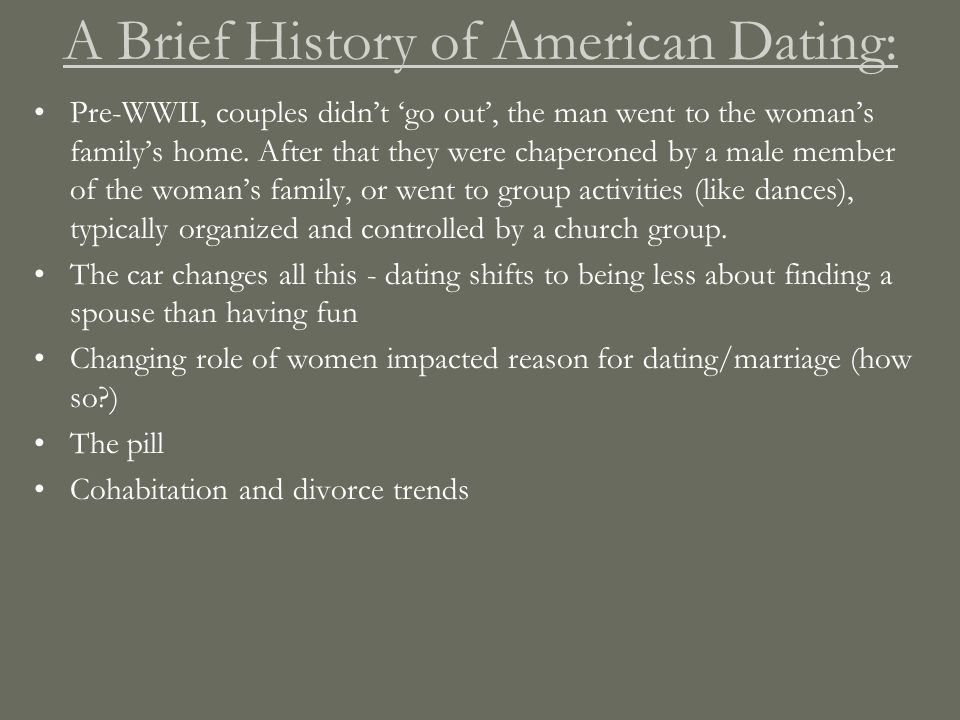 A Brief History of Courtship and Dating in America Free Essays