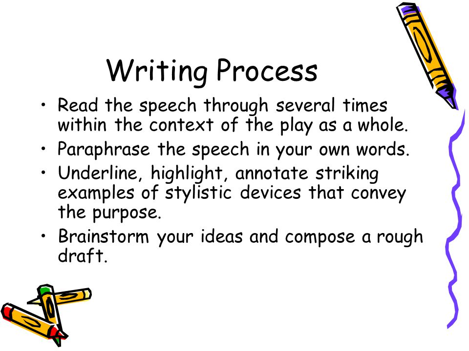 Writing Effective Purpose Statements
