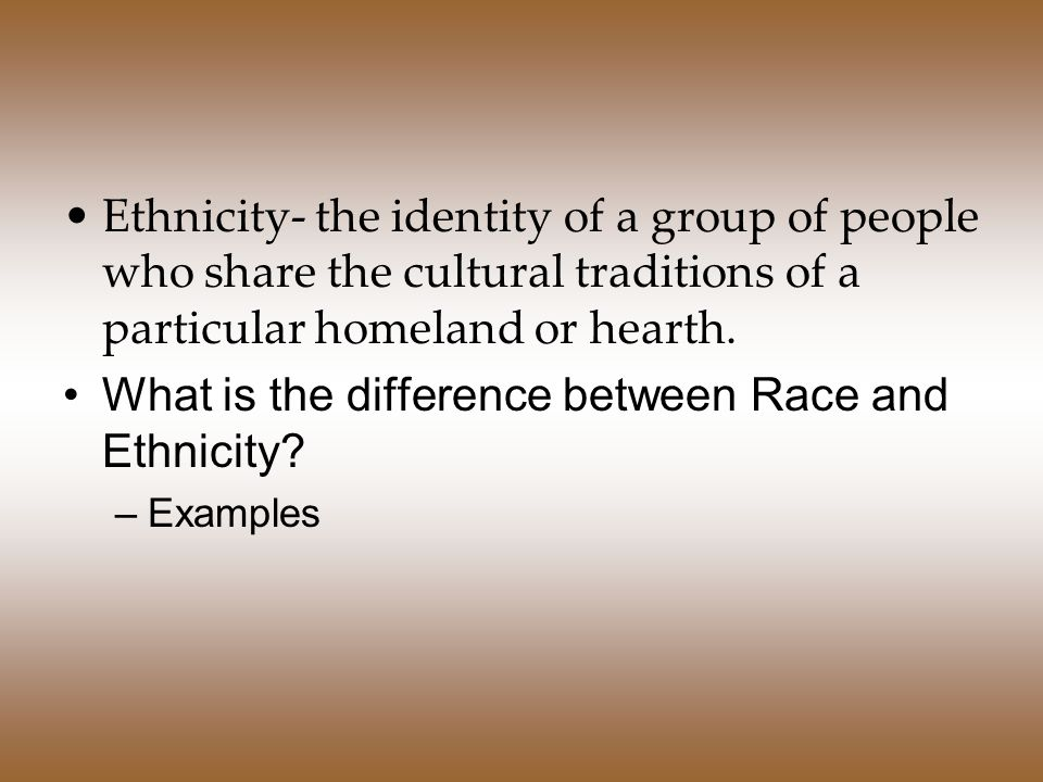 difference between race ethnicity essay Race and ethnicity is a category that has wide patterns of discrimination based on them ethnicity groups may either be a minority or majority in a population.