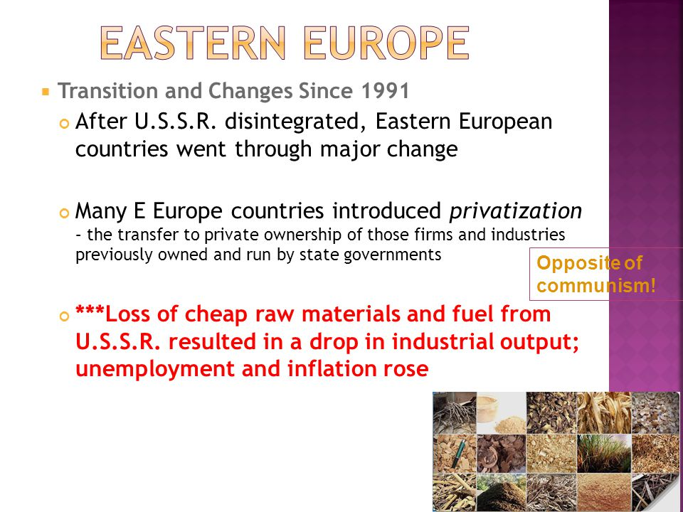 changes in europe since the fall This page provides information on the european union in  the changing face of europe - the fall of the  of many research and development programmes it has since.
