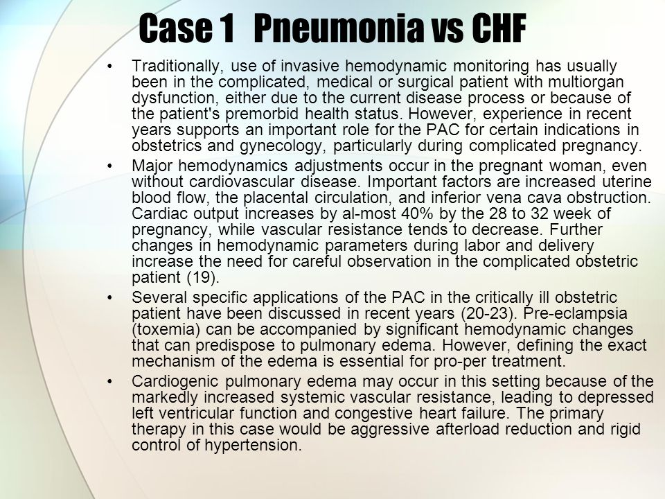 pneumonia comprehensive case study
