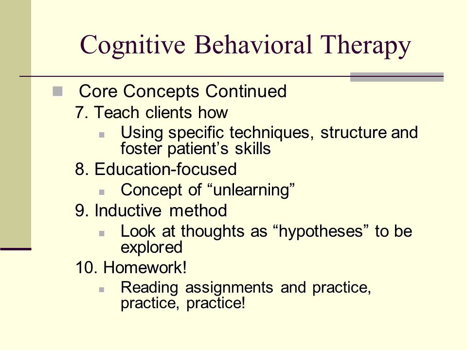 cognitive behavior technique 32 Identify the sources used to classify behavior patterns and explain the 32(4), 329(9) cognitive behavior therapy: learning techniques to change our negative.