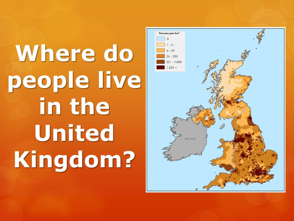Where do people live in the United Kingdom