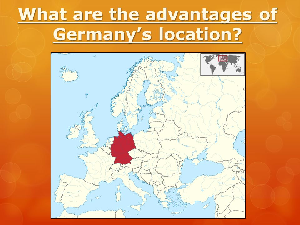 What are the advantages of Germany's location