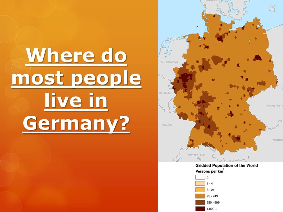 Where do most people live in Germany