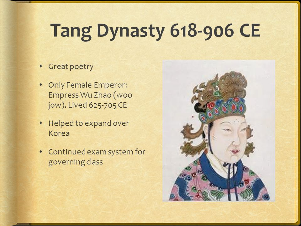 Tang Dynasty CE Great poetry