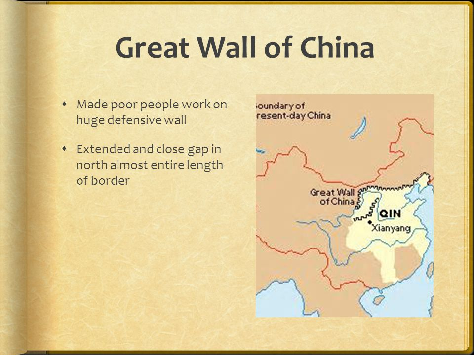 Great Wall of China Made poor people work on huge defensive wall