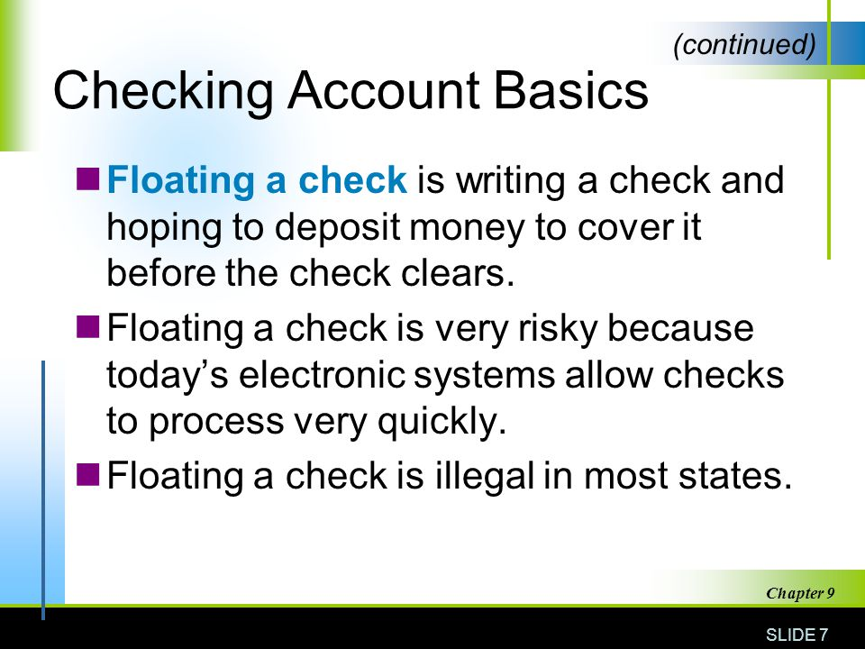 Checking accounts and banking services ppt video online download checking account basics ccuart Choice Image