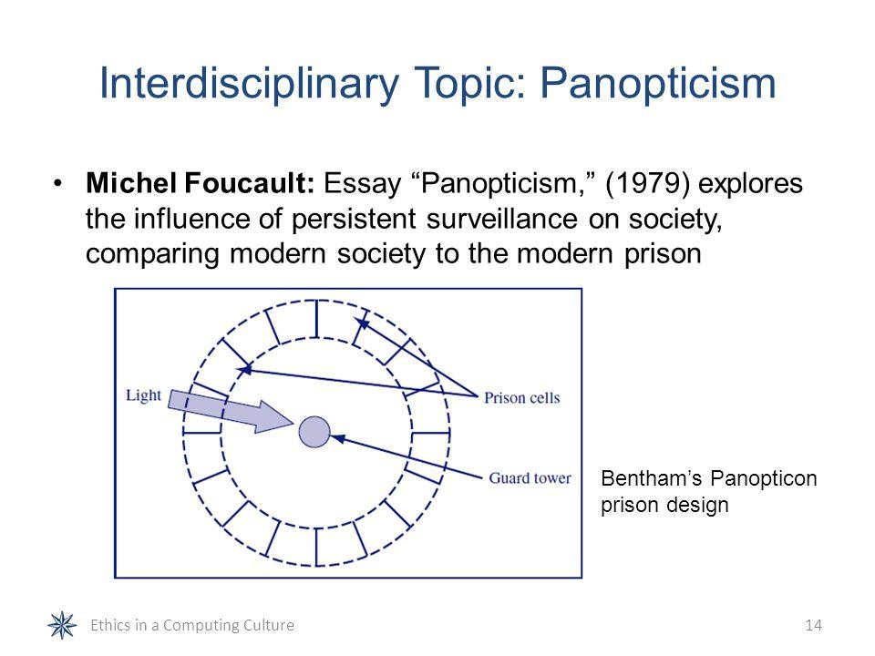 an analysis of panopticism by michael foucault A brief analysis on foucault's concept of panopticism course transcript an analysis and an introduction to an analysis of panopticism by michael foucault.