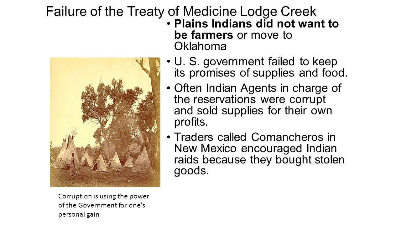 Failure of the Treaty of Medicine Lodge Creek