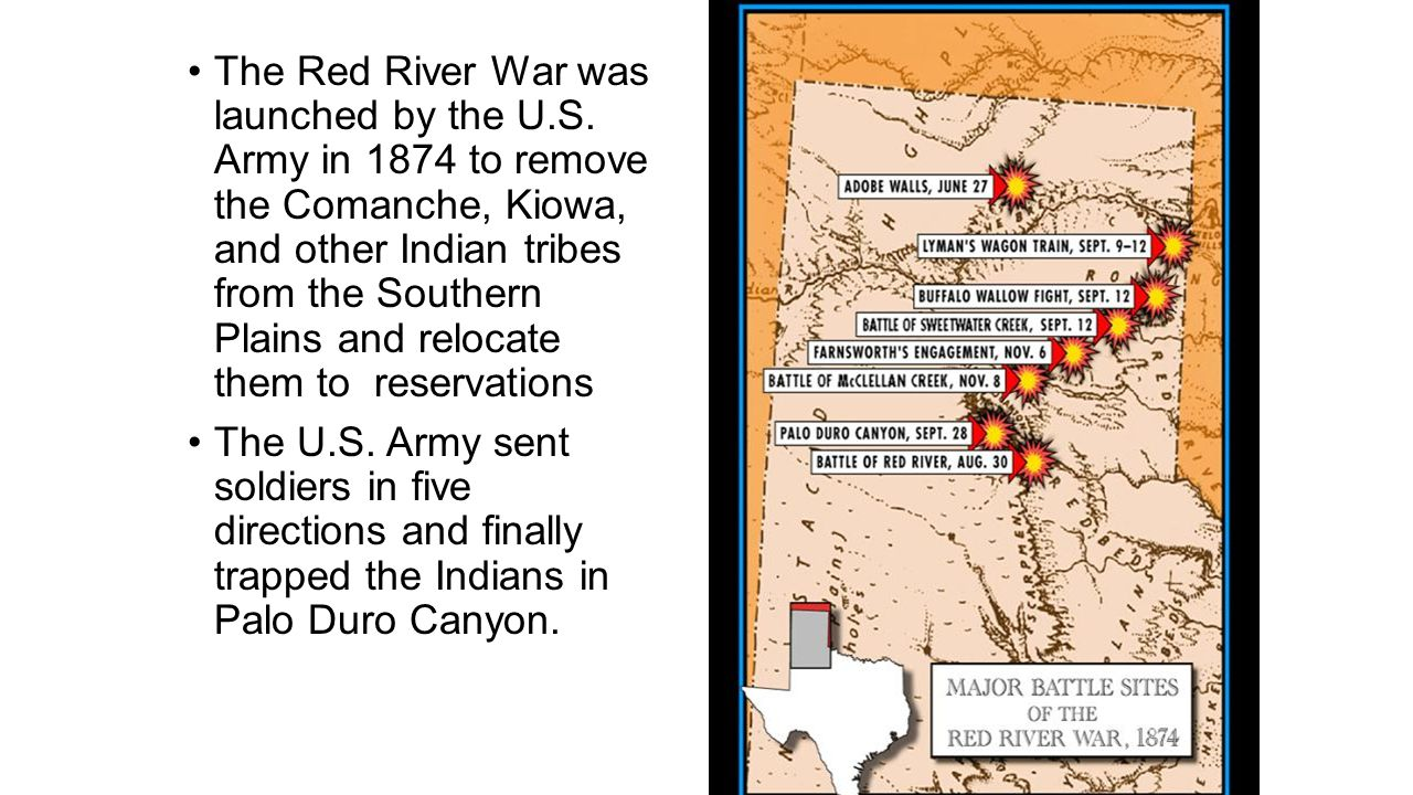 The Red River War was launched by the U. S