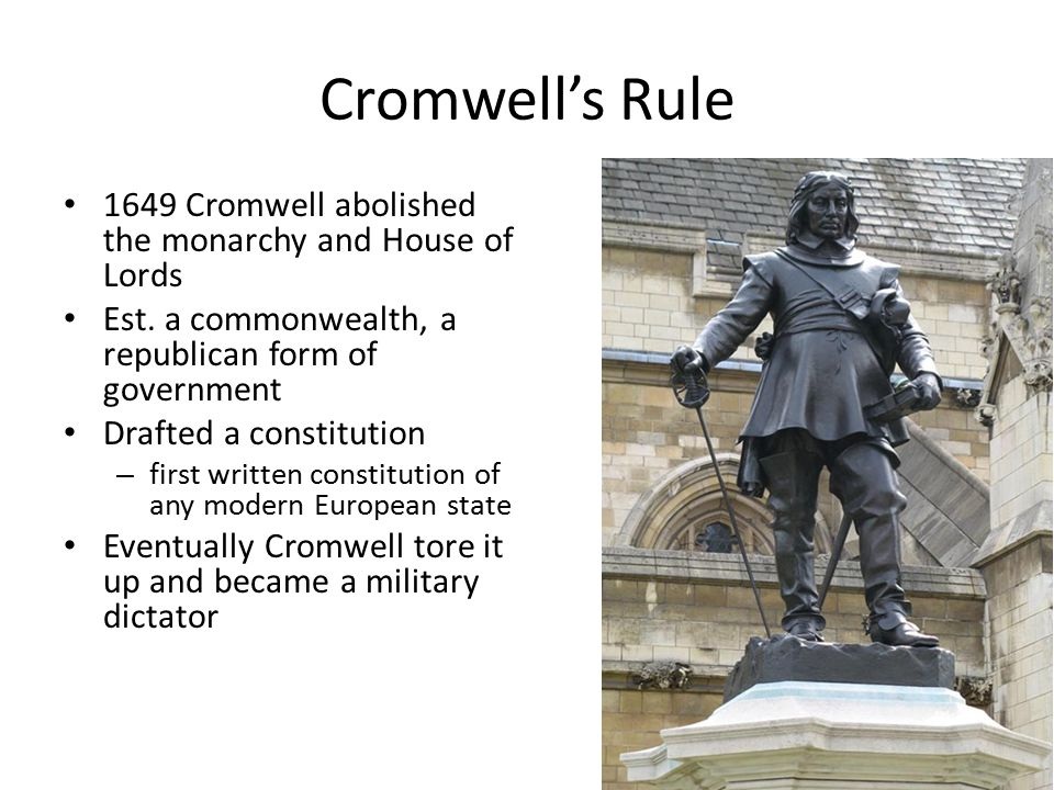 Life in England under Oliver Cromwell