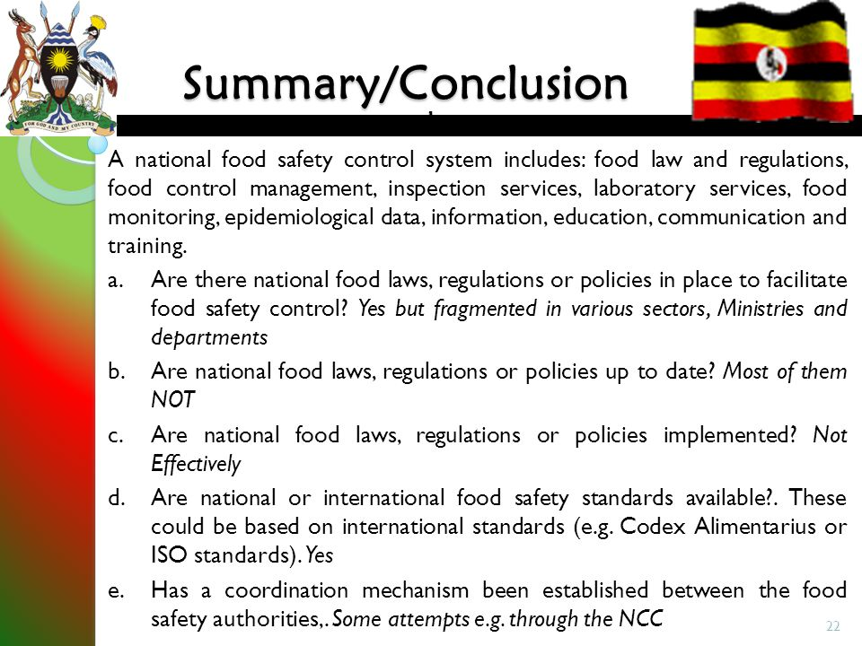 Status Of Food Safety In Uganda Ppt Video Online Download
