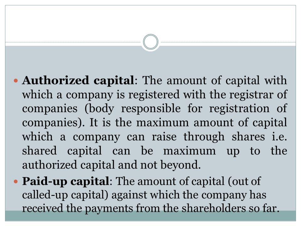 share capital of a company pdf